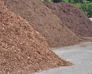 We offer Brown, Dyed Black and Playground Mulch